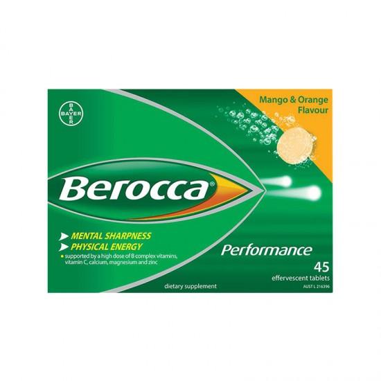 特价 德国 Bayer拜耳 Berocca复合维生素泡腾片 橙子&芒果味(澳洲版) 45片