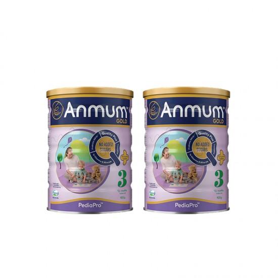 [新西兰直邮】【程光物流】新西兰版Anmum 安满3段 婴儿配方牛奶粉三段900g 2罐装 2020.12