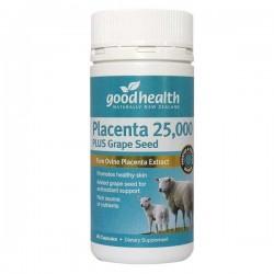 【买满50纽币包邮】GoodHealth 好健康 羊胎素精华25000 加葡萄籽 60片