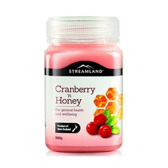 【买2送喉糖】【满50nzd包邮】Streamland  新溪岛 蔓越莓蜂蜜 500g