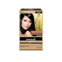 Aromaganic 染发膏黑色盖黑发1.0N 澳洲天然有机染发
